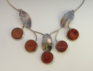 sterling and coral necklace  - $650