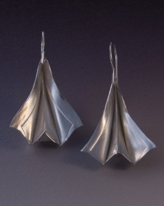 Sterling fold-formed earring - $200